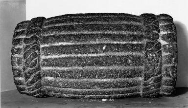 Aztec. <em>Year Bundle</em>, ca. 1440-1521. Stone, 20 1/2 x 11 in.  (52.1 x 27.9 cm). Brooklyn Museum, By exchange, 48.22.10. Creative Commons-BY (Photo: Brooklyn Museum, 48.22.10_bw.jpg)