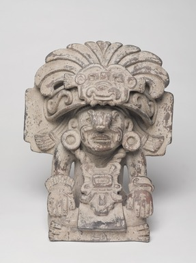 Zapotec. <em>Funerary Urn</em>, 200-800. Ceramic, 14 1/16 × 11 1/4 × 7 7/8 in. (35.7 × 28.6 × 20 cm). Brooklyn Museum, By exchange, 48.22.21. Creative Commons-BY (Photo: , 48.22.21_overall_PS9.jpg)