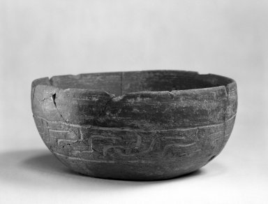 Zapotec. <em>Bowl</em>, 100-600. Ceramic, 2 9/16 x 5 1/2 x 5 1/2 in. (6.5 x 14 x 14 cm). Brooklyn Museum, By exchange, 48.22.35. Creative Commons-BY (Photo: Brooklyn Museum, 48.22.35_bw.jpg)