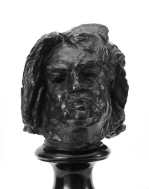 Auguste Rodin (French, 1840-1917). <em>Balzac, Final Study for the Head (Balzac, dernière étude pour la tête)</em>, 1897; cast date unknown. Bronze, 7 1/2 x 6 1/8 x 6 1/2 in.  (19.1 x 15.6 x 16.5 cm). Brooklyn Museum, Gift of the Brooklyn Daily Eagle, 48.3. Creative Commons-BY (Photo: Brooklyn Museum, 48.3_bw.jpg)