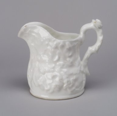 Charles Cartlidge & Co. (1848-1856). <em>Pitcher</em>, 1848-1856. Porcelain, 5 1/2 x 6 1/8 x 4 1/4 in. (14 x 15.6 x 10.8 cm). Brooklyn Museum, Gift of Mrs. A. L. Hutchings, 49.126. Creative Commons-BY (Photo: Brooklyn Museum, 49.126.jpg)