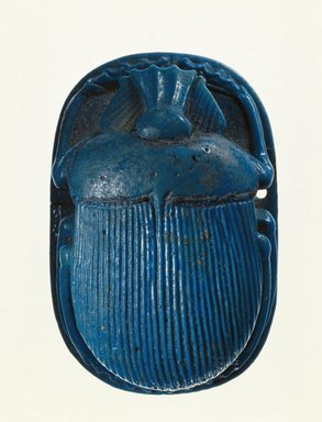 Egyptian. <em>Winged Scarab</em>, ca. 712-342 B.C.E. Faience, 49.28a (Scarab): 7/8 × 1 5/8 × 2 1/2 in. (2.2 × 4.2 × 6.4 cm). Brooklyn Museum, Charles Edwin Wilbour Fund, 49.28a-c. Creative Commons-BY (Photo: Brooklyn Museum, 49.28a_SL1.jpg)