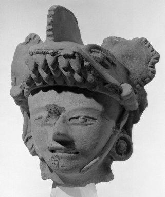 <em>Modeled Head</em>, ca. 13th century. Terra cotta Brooklyn Museum, Gift of Albert Gallatin, 49.36. Creative Commons-BY (Photo: Brooklyn Museum, 49.36_acetate_bw.jpg)