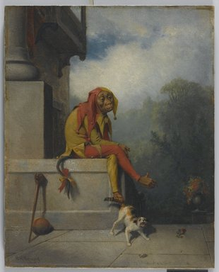 William Holbrook Beard (American, 1824-1900). <em>For What Was I Created?</em>, 1886. Oil on canvas, 19 15/16 x 16 in. (50.7 x 40.7 cm). Brooklyn Museum, Gift of Florence Logan, 49.4 (Photo: Brooklyn Museum, 49.4_PS1.jpg)