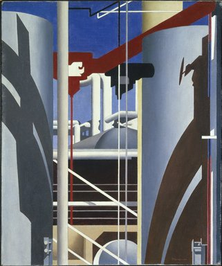 Charles Sheeler (American, 1883-1965). <em>Incantation</em>, 1946. Oil on canvas, 24 1/8 x 20 1/8 in. (61.3 x 51.1 cm). Brooklyn Museum, Ella C. Woodward Memorial Fund and John B. Woodward Memorial Fund, 49.67 (Photo: Brooklyn Museum, 49.67_SL1.jpg)