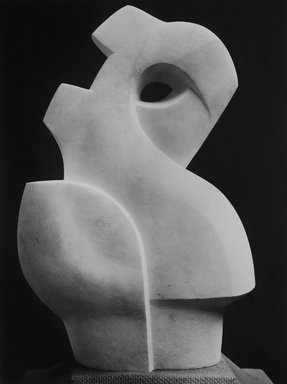 Warren Wheelock (American, 1880-1960). <em>Abstraction</em>, 1943. Carrara marble, 28 15/16 x 18 7/8 x 9 3/4 in. (73.5 x 47.9 x 24.8 cm). Brooklyn Museum, Anonymous gift, 49.90 (Photo: Brooklyn Museum, 49.90_bw.jpg)