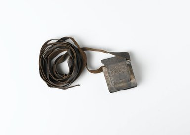 Jewish. <em>Phylactery Case</em>, 1885. Silver, leather, 2 x 2 1/8 in. (5.1 x 5.4 cm). Brooklyn Museum, Gift of the Anti-Defamation League of the B'nai Brith, 50.117.5. Creative Commons-BY (Photo: Brooklyn Museum, 50.117.5_closed_PS2.jpg)