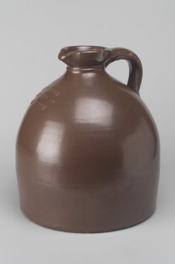 American. <em>Jug</em>, 19th century. Earthenware, 9 1/4 x 8 3/8 x 8 3/8 in. (23.5 x 21.3 x 21.3 cm). Brooklyn Museum, Gift of Miss E. L. Platt, 50.131.2. Creative Commons-BY (Photo: Brooklyn Museum, 50.131.2.jpg)