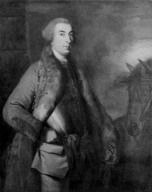 Sir Joshua Reynolds (British, 1723-1792). <em>Portrait of Lord George Sackville</em>. Oil on canvas, 49 3/4 x 39 3/4 in.  (126.4 x 101.0 cm). Brooklyn Museum, Gift of Mrs. Arthur Train in memory of Emily Pell Coster, 50.134 (Photo: Brooklyn Museum, 50.134_bw.jpg)