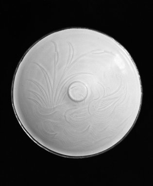 <em>Bowl</em>, 960-1279. White porcellanous stoneware with translucent cream colored glaze, 1 7/8 x 7 1/16 in. (4.7 x 17.9 cm). Brooklyn Museum, Museum Collection Fund, 50.161. Creative Commons-BY (Photo: Brooklyn Museum, 50.161_view1_bw.jpg)