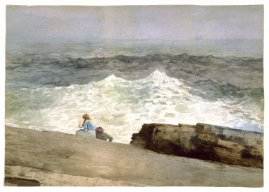 Winslow Homer (American, 1836-1910). <em>The Northeaster</em>, 1883. Watercolor over graphite on cream wove paper, 14 1/8 x 19 3/4in. (35.9 x 50.2cm). Brooklyn Museum, Bequest of Sidney B. Curtis in memory of S.W. Curtis, 50.185 (Photo: Brooklyn Museum, 50.185_SL3.jpg)