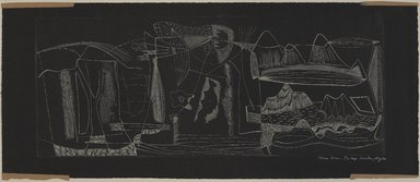Worden Day (American, 1916-1986). <em>Prima Vera</em>, 1949. Engraving, 7 15/16 x 19 11/16 in. (20.1 x 50 cm). Brooklyn Museum, Dick S. Ramsay Fund, 50.21. © artist or artist's estate (Photo: , 50.21_PS9.jpg)