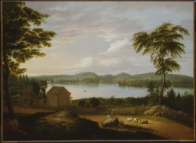Alvan Fisher (American, 1792-1863). <em>View of Springfield on the Connecticut River</em>, 1819. Oil on canvas, 41 × 53 × 3 in. (104.1 × 134.6 × 7.6 cm). Brooklyn Museum, Dick S. Ramsay Fund, 50.65 (Photo: , 50.65_SL3.jpg)