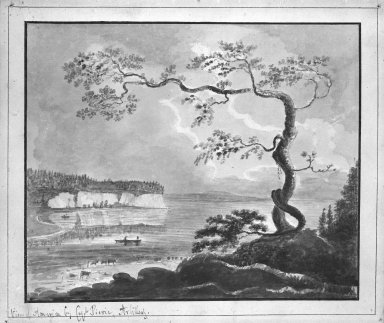 William Pierie (Captain) (American, active late 18th century). <em>Views of America - Anthony's Nose</em>. Watercolor Brooklyn Museum, Dick S. Ramsay Fund, 50.66.4 (Photo: Brooklyn Museum, 50.66.4_bw.jpg)