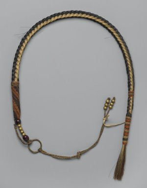Navajo. <em>Beaded Whip</em>, late 19th century. Horsehair, seeds, 28 1/4 in. (71.8 cm). Brooklyn Museum, Henry L. Batterman Fund and the Frank Sherman Benson Fund, 50.67.132. Creative Commons-BY (Photo: Brooklyn Museum, 50.67.132_PS2.jpg)