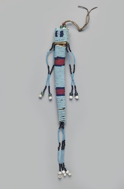Plains (Northern). <em>Awl Case</em>, early 19th century. Hide, beads, 11 1/4 x 2 3/4 in. (28.6 x 7 cm). Brooklyn Museum, Henry L. Batterman Fund and the Frank Sherman Benson Fund, 50.67.36. Creative Commons-BY (Photo: Brooklyn Museum, 50.67.36_PS11.jpg)