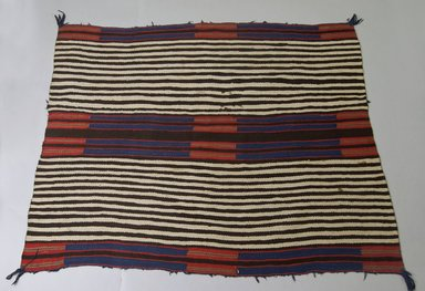 Navajo. <em>Chief's Blanket</em>, 1875-1880. Wool, dye, 43 x 56in. (109.2 x 142.2cm). Brooklyn Museum, Henry L. Batterman Fund and the Frank Sherman Benson Fund, 50.67.45. Creative Commons-BY (Photo: Brooklyn Museum, 50.67.45_PS5.jpg)