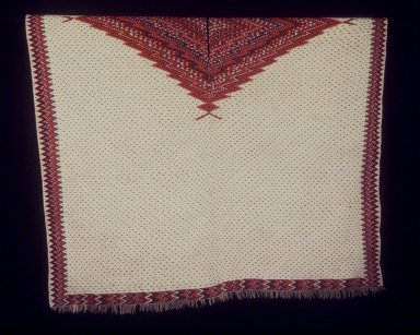 Saltillo. <em>Blanket or Serape</em>. Textile; wool, cotton, silk, 102 x 60 1/2in. (259.1 x 153.7cm). Brooklyn Museum, Henry L. Batterman Fund and the Frank Sherman Benson Fund, 50.67.48. Creative Commons-BY (Photo: Brooklyn Museum, 50.67.48.jpg)
