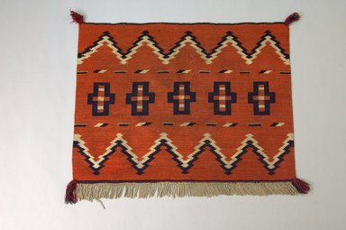 Navajo. <em>Blanket</em>, 1870s. Wool, dye, 34 x 26 1/2 in. (86.4 x 67.3 cm). Brooklyn Museum, Henry L. Batterman Fund and the Frank Sherman Benson Fund, 50.67.49. Creative Commons-BY (Photo: Brooklyn Museum, 50.67.49_PS5.jpg)