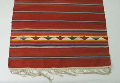 Native American (unidentified). <em>Blanket</em>, 1851-1900. Wool, 45 1/2 x 87in. (115.6 x 221cm). Brooklyn Museum, Henry L. Batterman Fund and the Frank Sherman Benson Fund, 50.67.51. Creative Commons-BY (Photo: Brooklyn Museum, 50.67.51_view1_PS5.jpg)