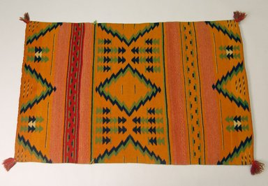 Navajo. <em>Blanket</em>, 1873-1875. Wool, 48 x 30 1/2in. (121.9 x 77.5cm). Brooklyn Museum, Henry L. Batterman Fund and the Frank Sherman Benson Fund, 50.67.53. Creative Commons-BY (Photo: Brooklyn Museum, 50.67.53_PS5.jpg)