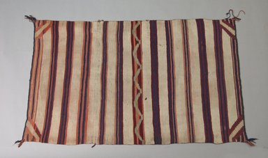 Navajo. <em>Saddle or Child's Blanket</em>, 1870-1880. Wool, 33 x 52 1/2in. (83.8 x 133.4cm). Brooklyn Museum, Henry L. Batterman Fund and the Frank Sherman Benson Fund, 50.67.57. Creative Commons-BY (Photo: Brooklyn Museum, 50.67.57_PS5.jpg)