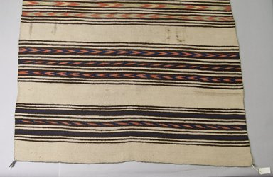 Navajo. <em>Blanket</em>, 1870-1875. Wool, dye, 50 x 78in. (127 x 198.1cm). Brooklyn Museum, Henry L. Batterman Fund and the Frank Sherman Benson Fund, 50.67.58. Creative Commons-BY (Photo: Brooklyn Museum, 50.67.58_view1_PS5.jpg)