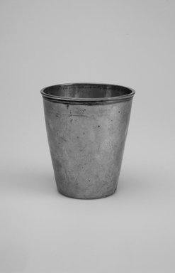 Unknown. <em>Kiddush Wine Cup</em>, early 19th century. Silver, 3 3/8 x 3 x 3 in. (8.6 x 7.6 x 7.6 cm). Brooklyn Museum, Gift of the family of Clarence G. Bachrach, 50.9. Creative Commons-BY (Photo: Brooklyn Museum, 50.9.jpg)