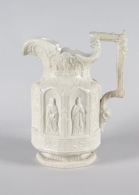 "Charles Meigh (British, 1835-1861). <em>""Apostle"" Pitcher</em>, mid-19th century. Stoneware, 10 1/2 x 4 3/4 in. (26.7 x 12.1 cm). Brooklyn Museum, Bequest of Sarah Raymond Miles, 51.130.1. Creative Commons-BY (Photo: Brooklyn Museum, 51.130.1_PS5.jpg)"