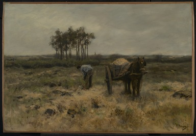 Anton Mauve (Dutch, 1838-1888). <em>Digging Sand, or The Sand Cart</em>, ca. 1875. Oil on canvas, 21 15/16 x 31 15/16 in. (55.7 x 81.1 cm). Brooklyn Museum, Gift of Charlotte R. Stillman, 51.13 (Photo: Brooklyn Museum, 51.13_PS2.jpg)