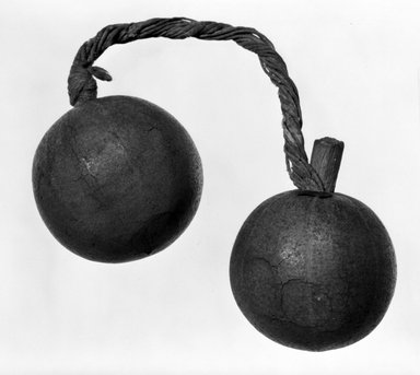 Solomon Islander. <em>Bottle</em>. Gourd, fiber, 1 11/16 × 2 9/16 in. (4.3 × 6.5 cm). Brooklyn Museum, Gift of John W. Vandercook, 51.140.27. Creative Commons-BY (Photo: Brooklyn Museum, 51.140.27_bw.jpg)