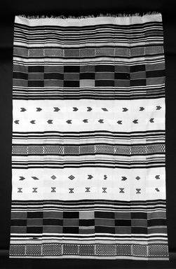 Gola. <em>Hanging (kpokpo)</em>, early 20th century. Cotton, dye, 209 7/16 x 72 1/16 in. (532 x 183 cm). Brooklyn Museum, Gift of John W. Vandercook, 51.140.35. Creative Commons-BY (Photo: Brooklyn Museum, 51.140.35_bw.jpg)