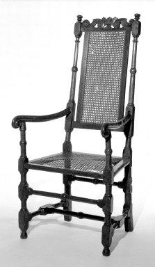 American. <em>Armchair</em>. Walnut, cane Brooklyn Museum, Dick S. Ramsay Fund, 51.146.4. Creative Commons-BY (Photo: Brooklyn Museum, 51.146.4_bw.jpg)