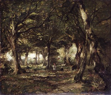 John Frederick Kensett (American, 1816-1872). <em>English Landscape</em>, 1843-1845. Oil on cardboard panel, 18 1/2 x 20 1/2 in. (47 x 52.1 cm). Brooklyn Museum, Gift of Charles D. Childs, 51.198 (Photo: Brooklyn Museum, 51.198_transp1838.jpg)