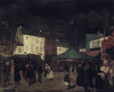 William Glackens (American, 1870-1938). <em>The Country Fair</em>, 1895-1896. Oil on canvas, 25 7/8 x 32 1/8 in. (65.8 x 81.6 cm). Brooklyn Museum, Bequest of Samuel A. Lewisohn, 51.213 (Photo: Brooklyn Museum, 51.213.jpg)