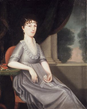 "Ralph Eleazer Whiteside Earl (American, ca. 1785-1838). <em>Mrs. Ebenezer Porter (Lucy ""Patty"" Pierce Merwin)</em>, 1804. Oil on canvas, 45 13/16 x 36 1/2 in. (116.4 x 92.7 cm). Brooklyn Museum, Gift of Colonel and Mrs. Edgar W. Garbisch, 51.217 (Photo: Brooklyn Museum, 51.217_transp1841.jpg)"