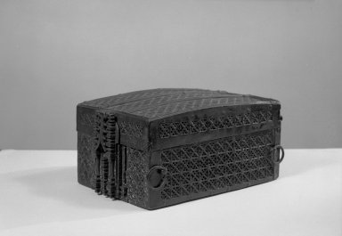 <em>Missal Box and Key</em>. Iron Brooklyn Museum, Gift of Judge Townsend Scudder, 51.232a-b. Creative Commons-BY (Photo: Brooklyn Museum, 51.232a-b_acetate_bw.jpg)