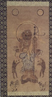 <em>Painting of Shomen - Kongo</em>, 1615-1867. Ink, color, paper, 14 1/4 x 6 7/8 in. (36.2 x 17.5 cm). Brooklyn Museum, Museum Collection Fund, 51.236 (Photo: Brooklyn Museum, 51.236.jpg)