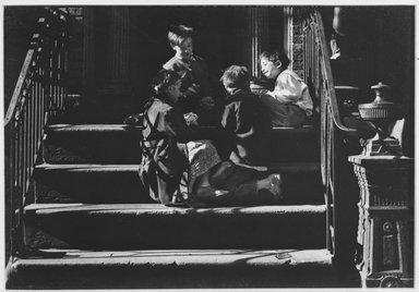 Walter Rosenblum (American, 1919-2006). <em>Pitt Street, 1941</em>, 1941. Chloro bromide photograph, 5 1/2 x 7 3/4 in.  (14.0 x 19.7 cm). Brooklyn Museum, Gift of Walter Rosenblum, 51.241.2. © artist or artist's estate (Photo: Brooklyn Museum, 51.241.2_acetate_bw.jpg)