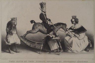 Honoré Daumier (French, 1808-1879). <em>Très Hauts et Très Puissans Moutards et Moutards Légitimes</em>, February 1834. Lithograph on wove paper, Sheet: 13 x 19 3/4 in. (33 x 50.2 cm). Brooklyn Museum, Frank L. Babbott Fund, 51.4.2 (Photo: Brooklyn Museum, 51.4.2.jpg)