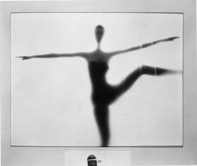 Ben Rose (American, 1916-1980). <em>Dancer</em>. Gelatin silver photograph, 10 1/2 x 13 1/4 in. (26.7 x 33.7 cm). Brooklyn Museum, Gift of the artist, 52.102.2. © artist or artist's estate (Photo: Brooklyn Museum, 52.102.2_acetate_bw.jpg)