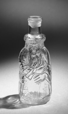 <em>Bottle</em>, late 19th century. Glass, 6 1/2 x 2 3/8 in. (16.5 x 6 cm). Brooklyn Museum, Gift of Alberta P. Locke, 52.110.135. Creative Commons-BY (Photo: Brooklyn Museum, 52.110.135_bw.jpg)