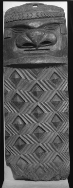 Kanak. <em>Doorjamb (Jovo)</em>, early 20th century. Wood, 63 x 23 x 7 1/2 in. (160 x 58.4 x 19.1 cm). Brooklyn Museum, Anonymous gift, 52.124. Creative Commons-BY (Photo: Brooklyn Museum, 52.124_acetate_bw.jpg)