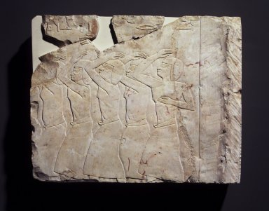 <em>Relief Blocks from the Tomb of the Vizier Nespeqashuty</em>, ca. 664-610 B.C.E. Limestone, 16 1/8 x 17 3/8 in. (41 x 44.1 cm). Brooklyn Museum, Charles Edwin Wilbour Fund, 52.131.2. Creative Commons-BY (Photo: Brooklyn Museum, 52.131.2_transp5487.jpg)