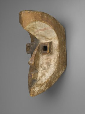 Possibly Kota (Mahongwe subgroup). <em>Mask</em>, late 19th century. Wood, pigment, 14 x 6 x 9 in. (35.6 x 15.2 x 22.9 cm). Brooklyn Museum, Frank L. Babbott Fund, 52.160. Creative Commons-BY (Photo: Brooklyn Museum, 52.160_PS2.jpg)