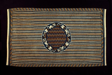 Mexican. <em>Sarape</em>, 19th century. Wool and cotton, 82 1/4 x 49 3/4in. (208.9 x 126.4cm). Brooklyn Museum, Museum Collection Fund and Dick S. Ramsay Fund, 52.166.20. Creative Commons-BY (Photo: Brooklyn Museum, 52.166.20_SL3.jpg)