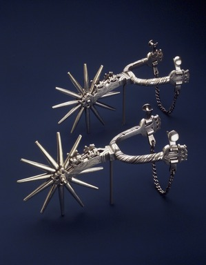 William Spratling (American, 1900-1967). <em>Pair of Spurs</em>, before 1952. Silver, 8 1/2 x 3 1/2 in. (21.6 x 8.9 cm). Brooklyn Museum, Museum Collection Fund and Dick S. Ramsay Fund, 52.166.22. Creative Commons-BY (Photo: Brooklyn Museum, 52.166.22.jpg)