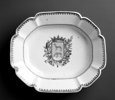 <em>Bowl</em>, ca. 1770. Ceramic; porcelain, 10 7/8 x 9 1/4 in. Brooklyn Museum, Museum Collection Fund and Dick S. Ramsay Fund, 52.166.25. Creative Commons-BY (Photo: Brooklyn Museum, 52.166.25_bw.jpg)
