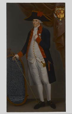 Mariano Guerrero (Mexican, active late 18th century). <em>Don Juan Lorenzo Gutiérrez Altamirano de Velasco y Flores, Count of Santiago de Calimaya</em>, ca. 1790. Oil on canvas, 73 1/2 x 38 1/2 in. (186.7 x 97.8 cm). Brooklyn Museum, Museum Collection Fund and Dick S. Ramsay Fund, 52.166.2 (Photo: Brooklyn Museum, 52.166.2_PS6.jpg)