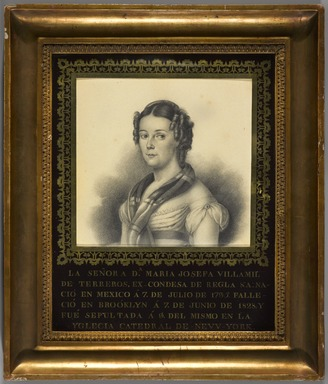 Unknown. <em>Dona Maria Josefa Villamil de Terreros</em>, ca. 1810-1825. Graphite on paper, 15 x 13 in. (38.1 x 33 cm). Brooklyn Museum, Museum Collection Fund and Dick S. Ramsay Fund, 52.166.8 (Photo: , 52.166.8_PS9.jpg)